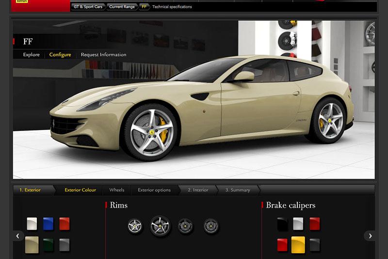 Ferrari FF: konfigurátor nejen na neděli: - fotka 2