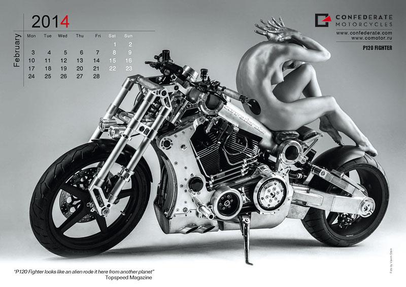 Confederate Motorcycles - kalendář pro rok 2014: - fotka 3
