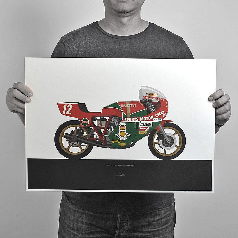 Ugly Moto: Umělecká vzpomínka na klasické závodní motorky: - fotka 2