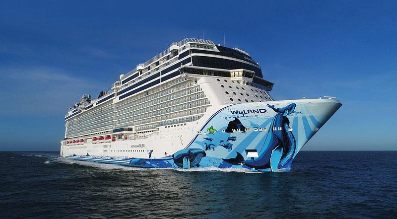 Obří výletní loď má na palubě dvoupatrový závodní okruh: - fotka 2