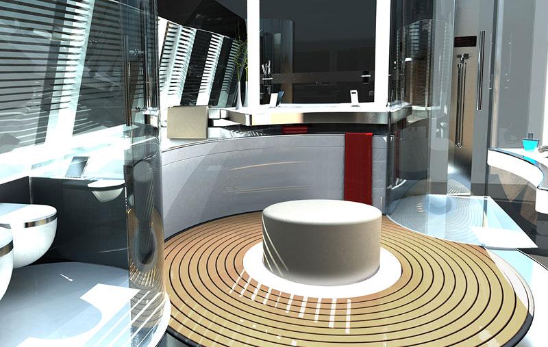 Royal Falcon Fleet RFF135: luxusní katamaran od Porsche Design Studio: - fotka 3