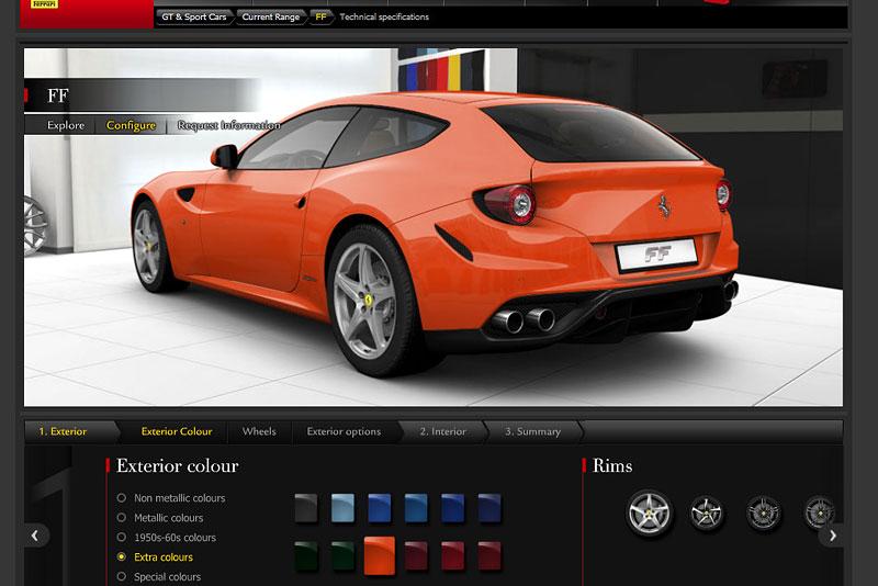 Ferrari FF: konfigurátor nejen na neděli: - fotka 3