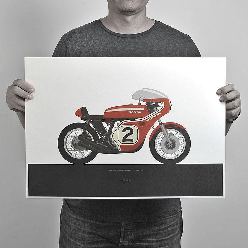 Ugly Moto: Umělecká vzpomínka na klasické závodní motorky: - fotka 3
