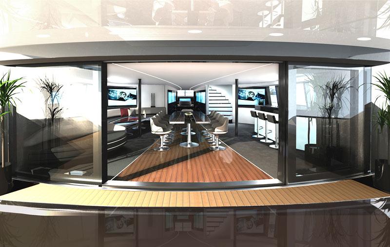 Royal Falcon Fleet RFF135: luxusní katamaran od Porsche Design Studio: - fotka 4