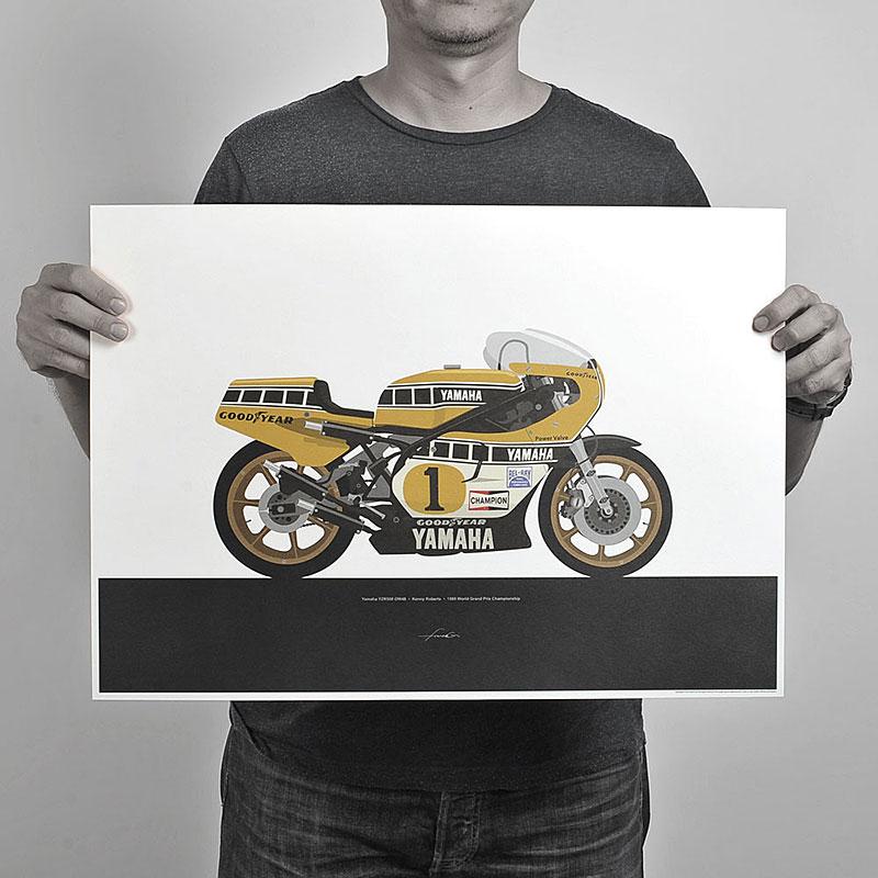 Ugly Moto: Umělecká vzpomínka na klasické závodní motorky: - fotka 4