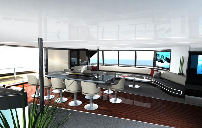 Royal Falcon Fleet RFF135: luxusní katamaran od Porsche Design Studio: - fotka 5