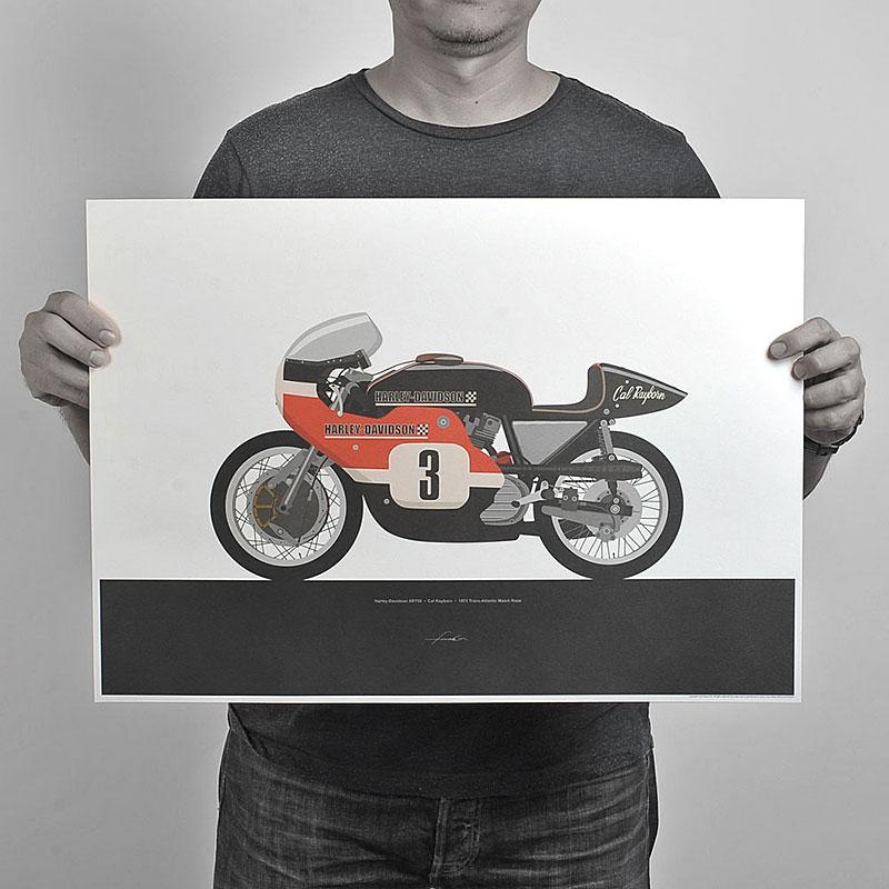 Ugly Moto: Umělecká vzpomínka na klasické závodní motorky: - fotka 5