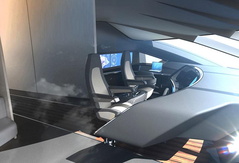 Royal Falcon Fleet RFF135: luxusní katamaran od Porsche Design Studio: - fotka 6