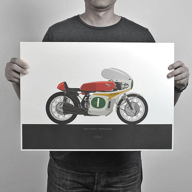 Ugly Moto: Umělecká vzpomínka na klasické závodní motorky: - fotka 6
