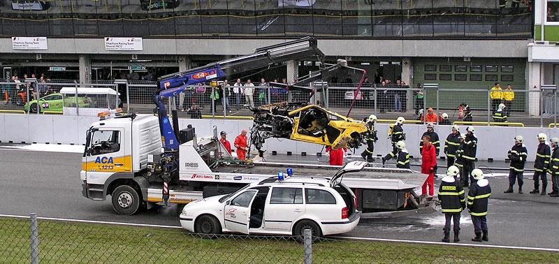 FIA GT: ošklivá havárie při závodě v Brně: - fotka 7