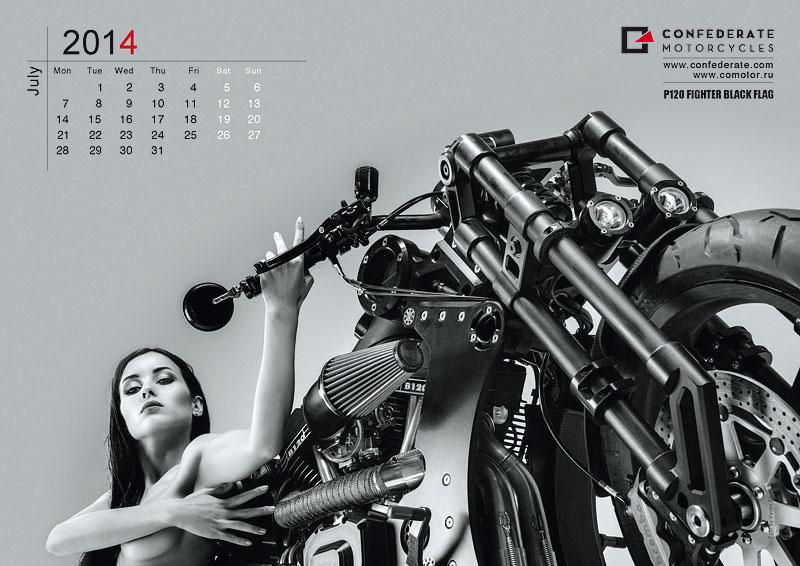 Confederate Motorcycles - kalendář pro rok 2014: - fotka 7