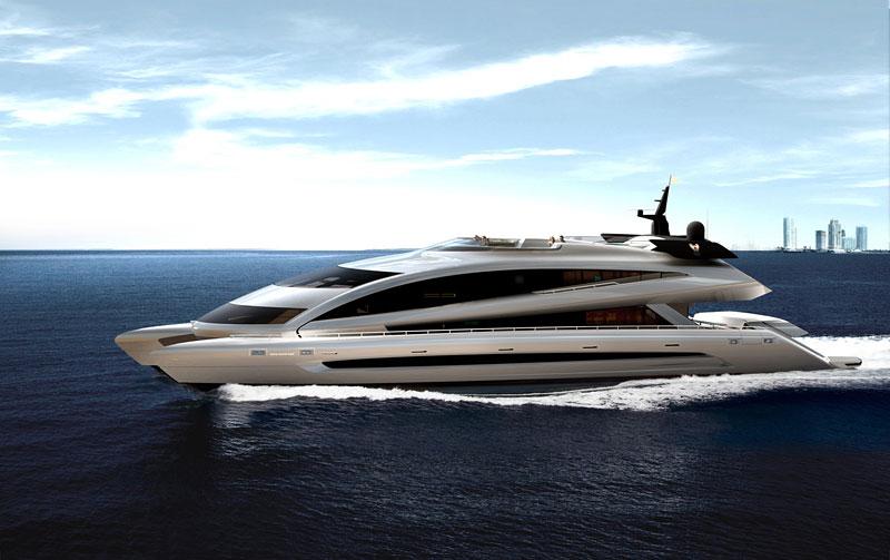 Royal Falcon Fleet RFF135: luxusní katamaran od Porsche Design Studio: - fotka 8