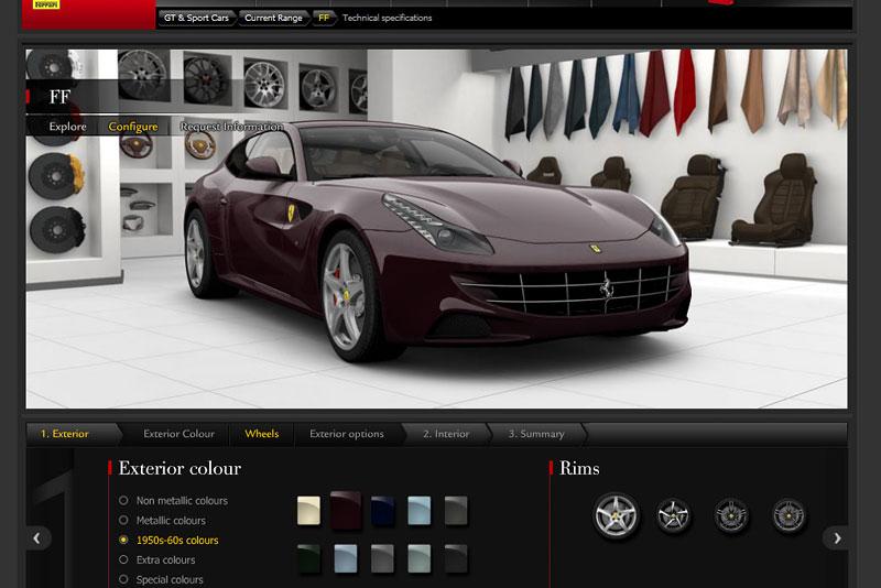 Ferrari FF: konfigurátor nejen na neděli: - fotka 9