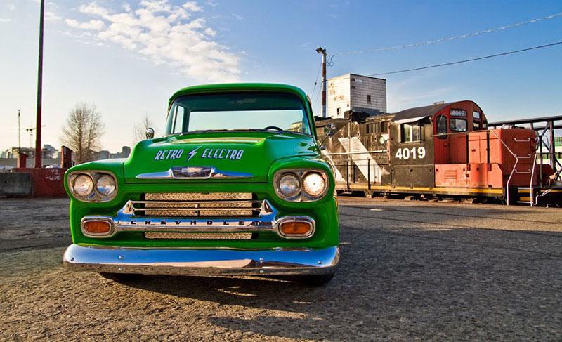 Retro Electro: 1958 Chevrolet Apache na elektřinu (video): - fotka 1