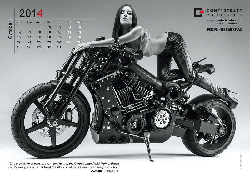 Confederate Motorcycles - kalendář pro rok 2014: - fotka 10