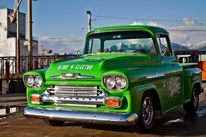 Retro Electro: 1958 Chevrolet Apache na elektřinu (video): - fotka 4