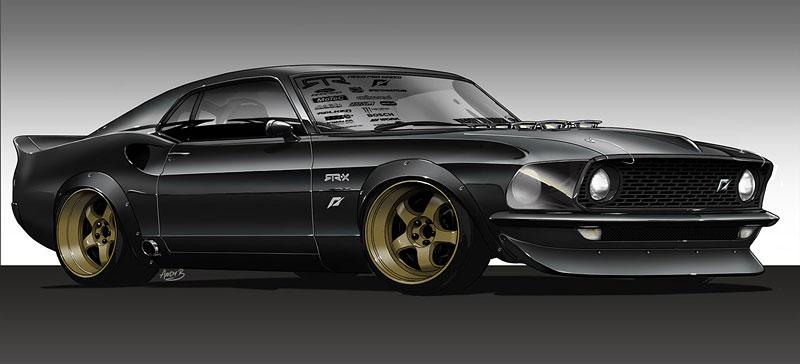 Vaughn Gittin Jr. a jeho Mustang ve stylu šedesátých let: - fotka 2