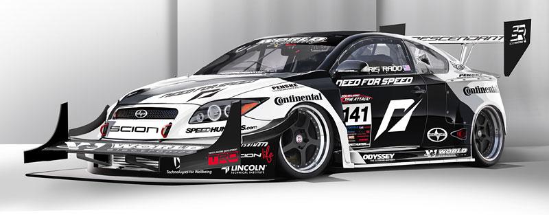 Scion tC Need for Speed Racing: 1100 koní a pohon všech kol: - fotka 7