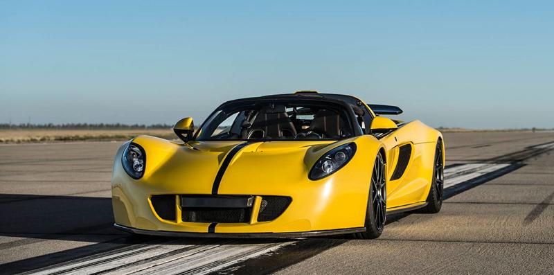 Hennessey Venom GT Spyder je nejrychlejší kabriolet na světě: - fotka 12