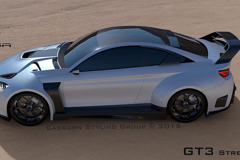 BMW M4 Coupé se proměňuje v Mamba GT3 Street Concept: - fotka 3