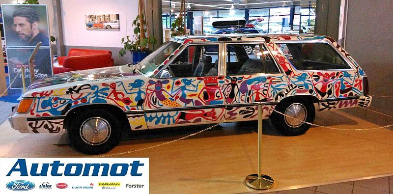 Německý prodejce chce za starý kombík od Fordu 25 milionů. Je to prý umělecké dílo: - fotka 3
