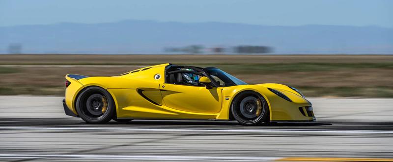 Hennessey Venom GT Spyder je nejrychlejší kabriolet na světě: - fotka 13