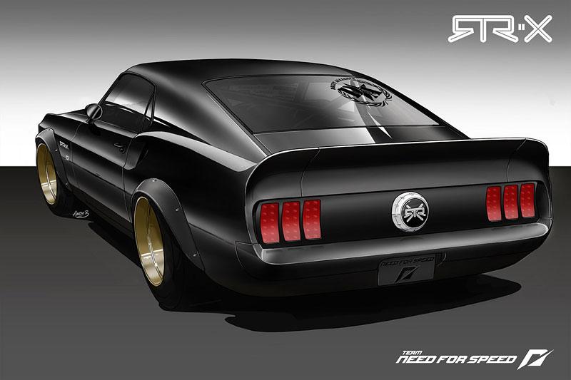 Vaughn Gittin Jr. a jeho Mustang ve stylu šedesátých let: - fotka 3