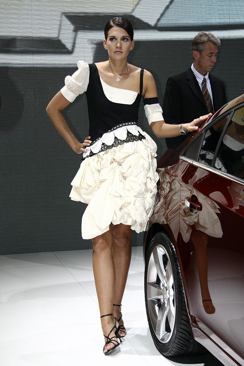 Paříž 2008: Hostesky tradičně i netradičně: - fotka 23