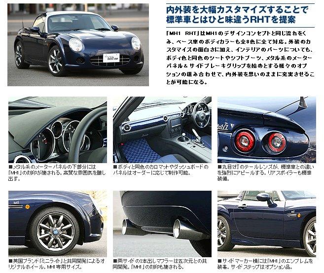 MonoCraft MH1 – Mazda Miata alias MX-5 v retro stylu: - fotka 8