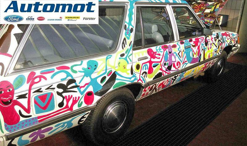 Německý prodejce chce za starý kombík od Fordu 25 milionů. Je to prý umělecké dílo: - fotka 7