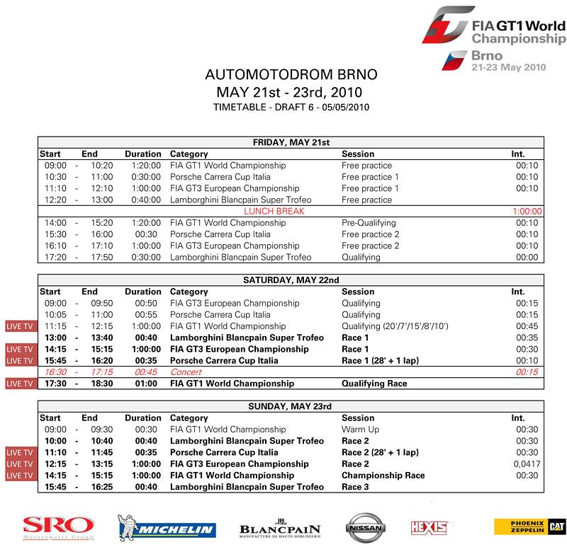 Lamborghini Blancpain Super Trofeo, FIA GT3 a FIA GT1 o víkendu v Brně!: - fotka 27