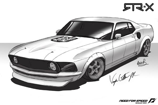 Vaughn Gittin Jr. a jeho Mustang ve stylu šedesátých let: - fotka 4