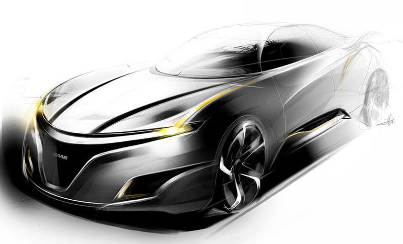 Saab: koncept sedanu pro rok 2025: - fotka 11
