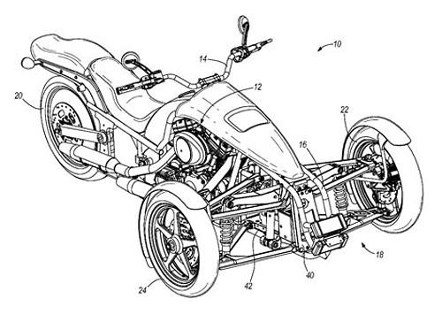 Harley-Davidson Penster: na třech kolech v náklonu: - fotka 5