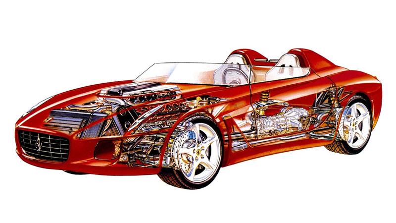 Pod lupou: Pininfarina Ferrari Rossa (2000) - Speedster k narozeninám: - fotka 16