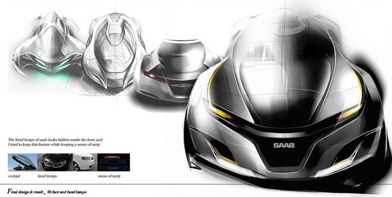 Saab: koncept sedanu pro rok 2025: - fotka 14