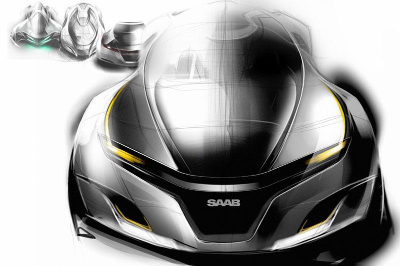 Saab: koncept sedanu pro rok 2025: - fotka 19
