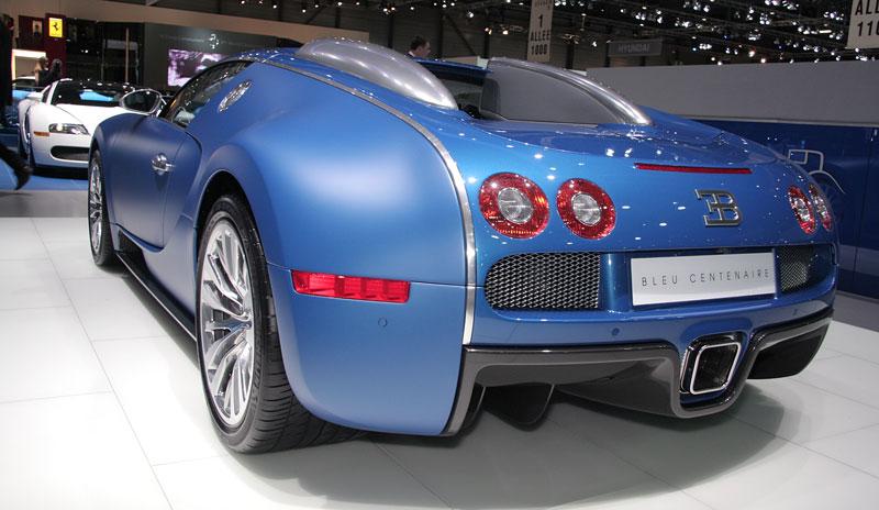 Autosalon Ženeva: Bugatti Veyron Bleu Centenaire: - fotka 3