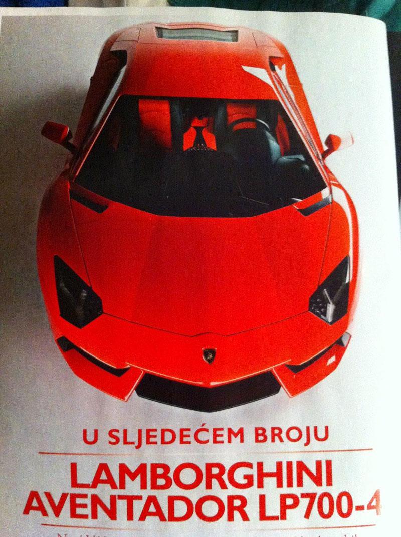 Lamborghini Aventador: unikla první fotografie!: - fotka 2