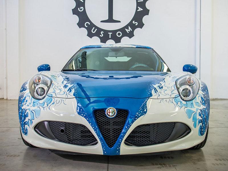 Alfa Romeo 4C Hokusai: Výstavní kus od Garage Italia Customs: - fotka 5