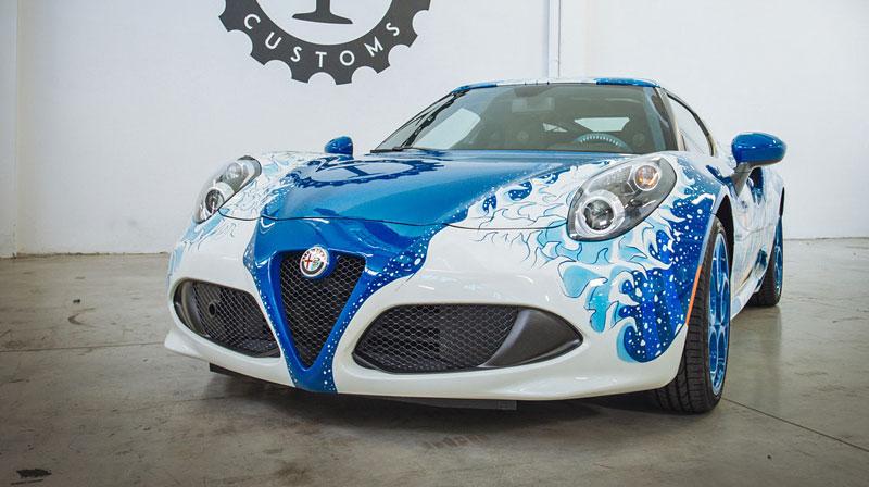 Alfa Romeo 4C Hokusai: Výstavní kus od Garage Italia Customs: - fotka 6