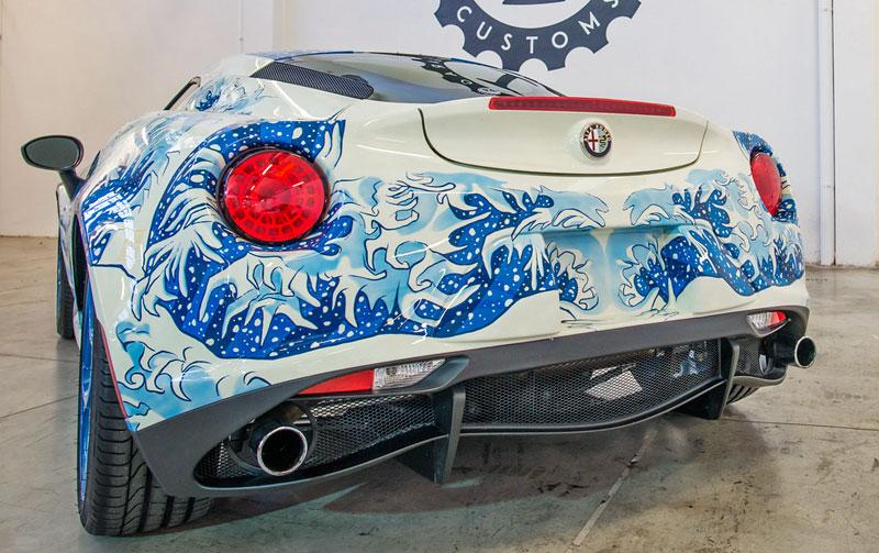 Alfa Romeo 4C Hokusai: Výstavní kus od Garage Italia Customs: - fotka 10