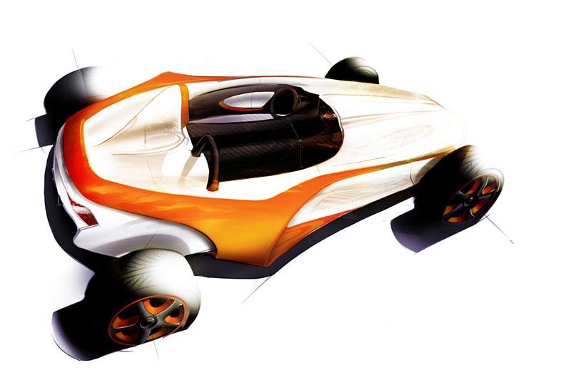 Arturo Arino Reptile: hybridní motokára: - fotka 12