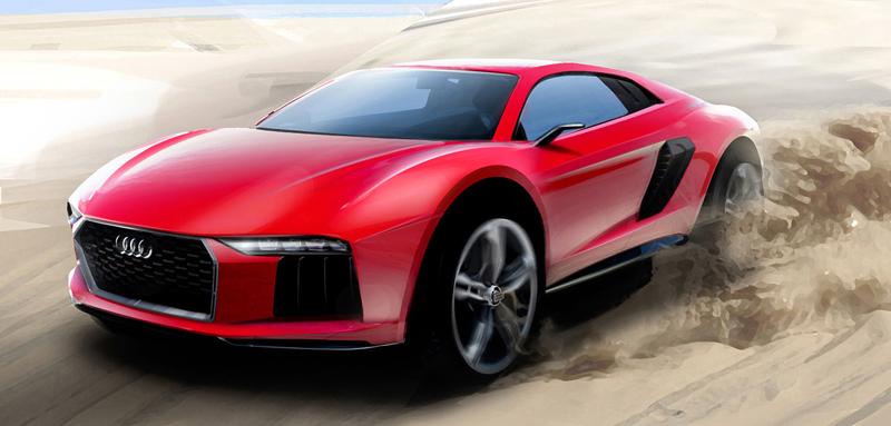 Audi nanuk quattro concept: Terénní skorolambo má V10 TDI: - fotka 7