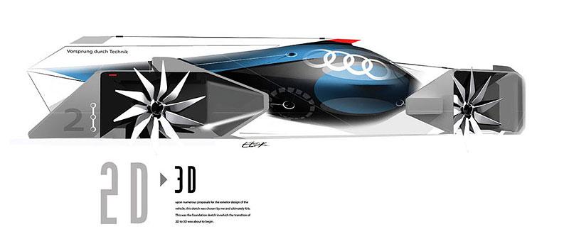 Audi Airomorph: závoďák pro Le Mans budoucnosti: - fotka 17
