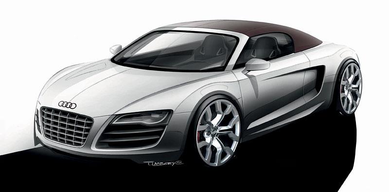 Audi R8 Spyder: po Paříži i s osmiválcem: - fotka 66