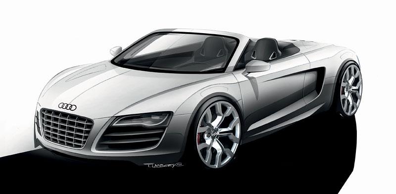 Audi R8 Spyder: po Paříži i s osmiválcem: - fotka 68