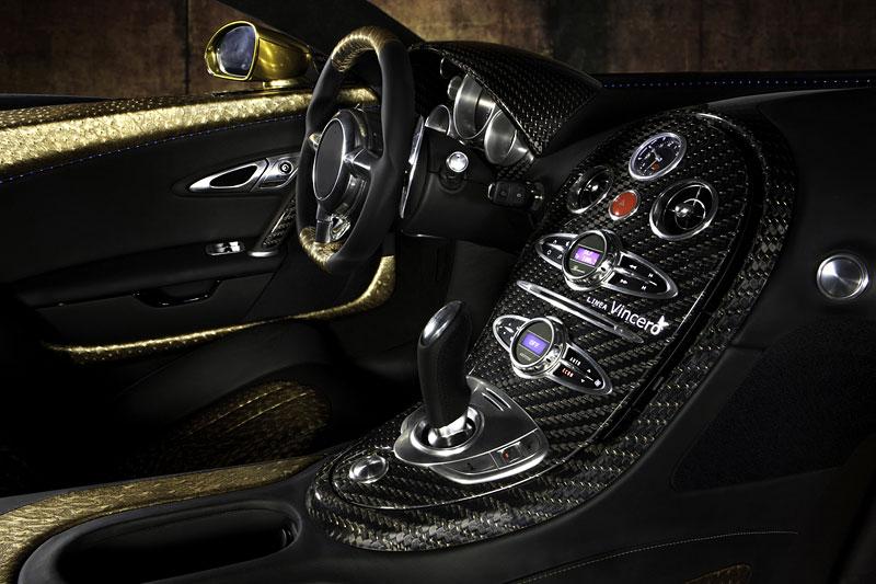 Mansory LINEA Vincero d'Oro: karbon a zlato pro Bugatti Veyron: - fotka 3