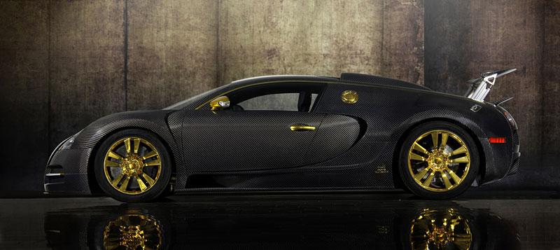 Mansory LINEA Vincero d'Oro: karbon a zlato pro Bugatti Veyron: - fotka 8