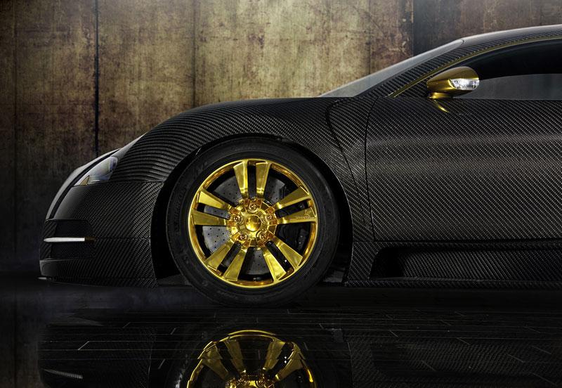 Mansory LINEA Vincero d'Oro: karbon a zlato pro Bugatti Veyron: - fotka 15